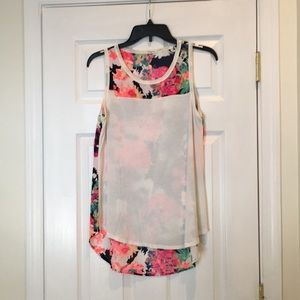 Floral and Cream Tanktop